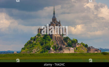 Mont Saint-Michel, Normandy, France - Stock Image