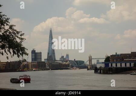 London Skyline from  Rotherhithe, London, UK - Stock Image