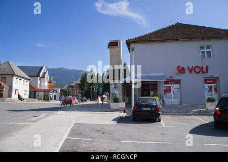 Supermarket Voli in Mojkovac city in northern Montenegro, August 31, 2018. (CTK Photo/Libor Sojka) - Stock Image