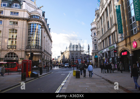 Coventry Street and Trocadero at Piccadilly Circus London - Stock Image