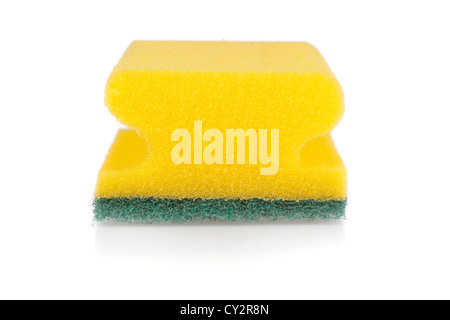 Scouring pad isolated on a white background - Stock Image