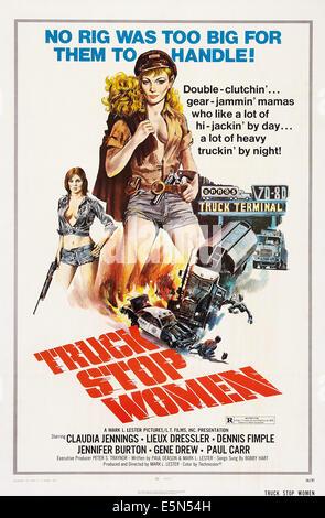 TRUCK STOP WOMEN, US poster art, 1974. - Stock Image