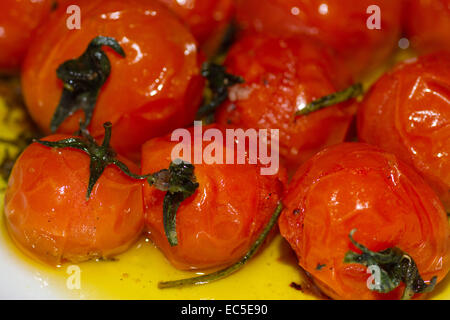 stewed tomatoes - Stock Image