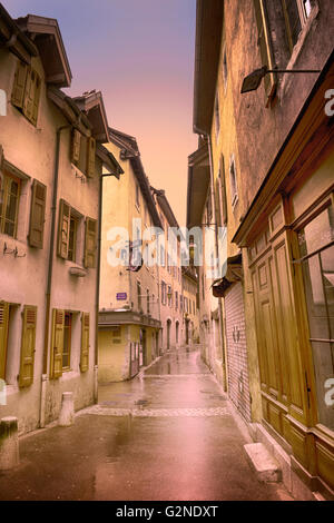 The back streets of Lac de Annecy - Stock Image