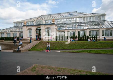 The Temperate House in The Royal Botanic Gardens Kew Gardens London England UK - Stock Image