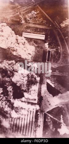 758.France Le Mans. RAF attack the Renault Motor Works. 9.3.1943 - Stock Image