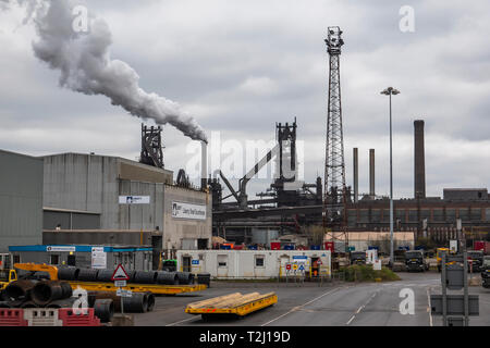 Steelworks,Scunthorpe,England (Taken from a public highway) - Stock Image