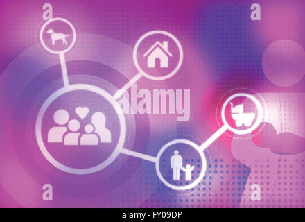 Illustrative image representing human family - Stock Image