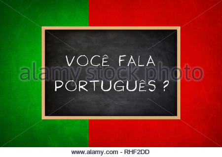 Do you speak Portuguese - Stock Image