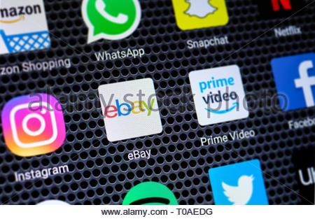 Ebay app logo - Stock Image