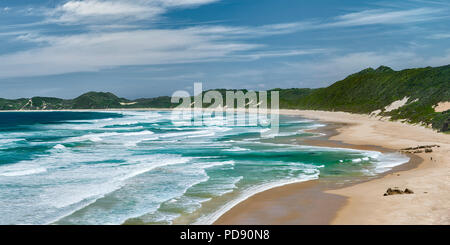 The beach at Brenton on Sea in South Africa. - Stock Image