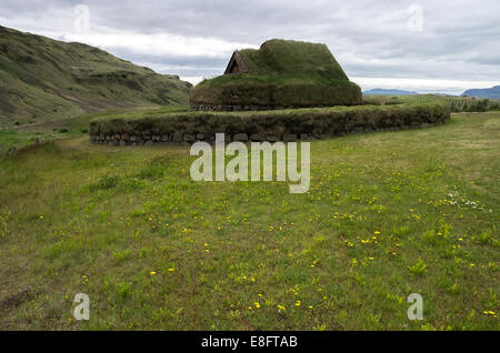 Viking church at Pjodveldisbear - Stock Image