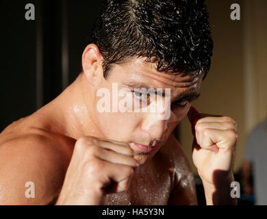 UFC fighter Diego Sanchez at a training session in Anaheim, California, Wednesday, Sept. 19, 2007.  Photo credit: - Stock Image