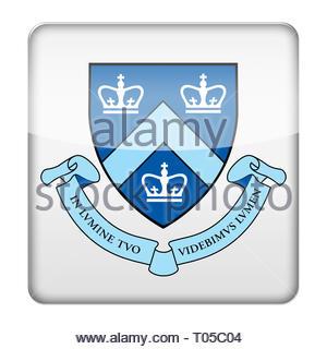 Columbia University logo - Stock Image
