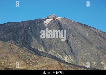 Clear and sunny day view over Teide peak, Tenerife, Canary Islands - Stock Image