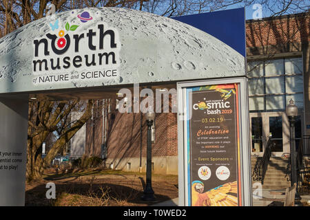 The main entrance to the North Museum of Science - Stock Image