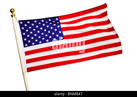 American Flag Flying - Stock Image