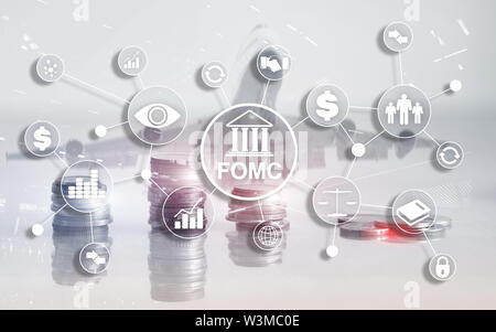 FOMC Federal Open Market Committee Government regulation Finance monitoring organisation. - Stock Image