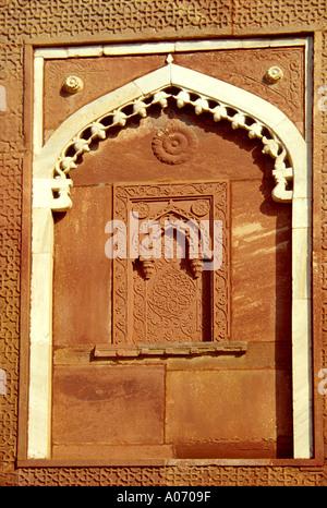 Jahangiri Mahal Detail, Agra Fort, Rajasthan, India - Stock Image