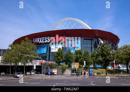 Europe, Germany, Cologne, the Lanxess Arena in the town district Deutz.  Europa, Deutschland, Koeln, die Lanxess Arena im Stadtteil Deutz. - Stock Image