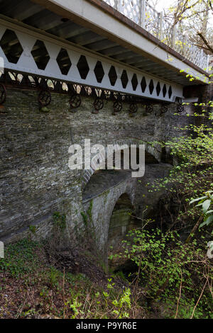 Devil's Bridge, Aberystwyth, Wales, UK - The Three Bridges - Stock Image