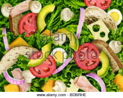 Sandwich Ingredients - Stock Image