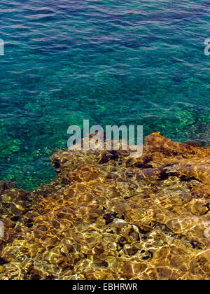 Rocks under water at Protaras, Cyprus, Europe. - Stock Image