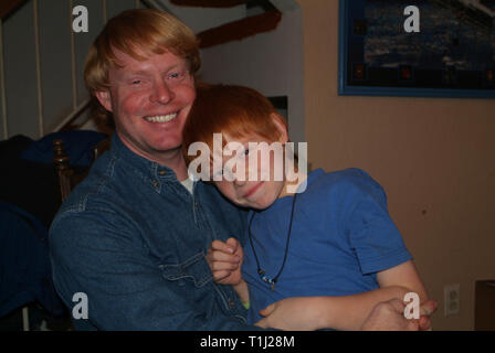 man and his son - Stock Image
