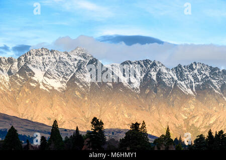 Evening light, The Remarkables - Stock Image