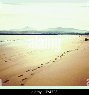 Scenic View Of Beach Against Sky - Stock Image