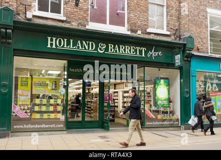 Holland & Barrett More store shop York North Yorkshire England UK United Kingdom GB Great Britain - Stock Image