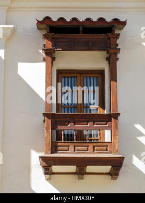 Typical Colonial Balcony Cusco Peru - Stock Image