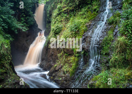 Waterfall in Glenariff Forest Park County Antrim, Northern Ireland - Stock Image