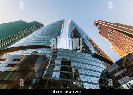 Moscow, Russia - October 12, 2018: View of Moscow City. International Business Center - Stock Image