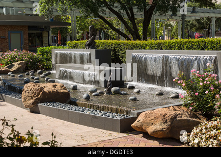 Fountains at Lauren's Garden Market Square Houston Texas USA - Stock Image