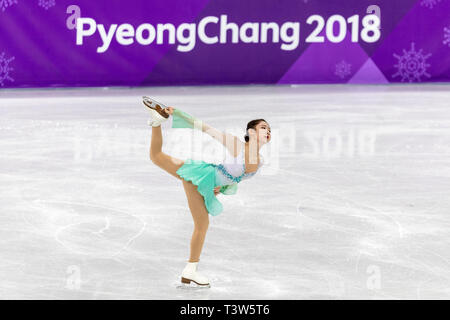 Choi Dabin (KOR) competing in the Figure Skating - Ladies' Short at the Olympic Winter Games PyeongChang 2018 - Stock Image