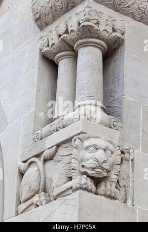 Lion Poznan Imperial Castle Historical Building - Stock Image