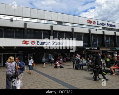 Outside Euston Station London - Stock Image