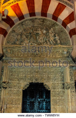 Inside the Mezquita (the Mosque-Cathedral) of Corboba, Cordoba Province,  Spain. - Stock Image