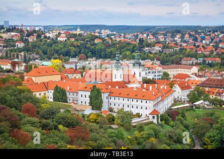 View of Strahov Monastery in Prague, Czechia - Stock Image