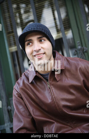 Portrait of a young man, San Francisco, California, USA - Stock Image