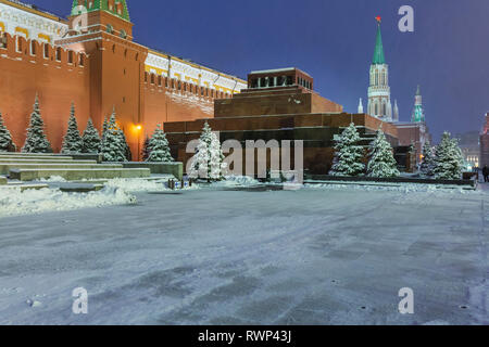 Lenin's Mausoleum, Red square, Moscow, Russia - Stock Image