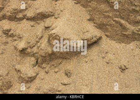 Close up image of sand in a sand bank. - Stock Image