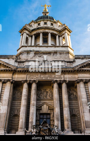 Main entrance of the Central Criminal Court, Old Bailey, London, UK - Stock Image
