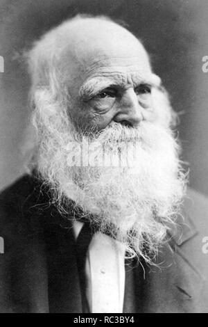 WILLIAM CULLEN BRYANT (1794-1878) American poet and journalist - Stock Image