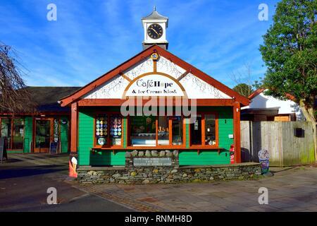 Cafe hope Lake Rd, Keswick,Cumbria,Lake District,England,UK - Stock Image