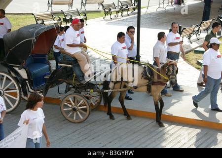 May Day Parade, Izamal, Yucatan Peninsular, Mexico - Stock Image
