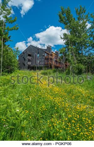 Caribou Highlands resort and condominiums in the Lutsen Mountains ski area, Lutsen, Minnesota, USA. - Stock Image