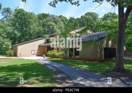 The Visitor Center at Guilford Courthouse National Military Park. - Stock Image