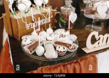 Desserts at wedding - Stock Image
